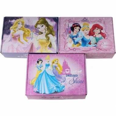 3x disney princess opbergboxen opbergdozen van karton