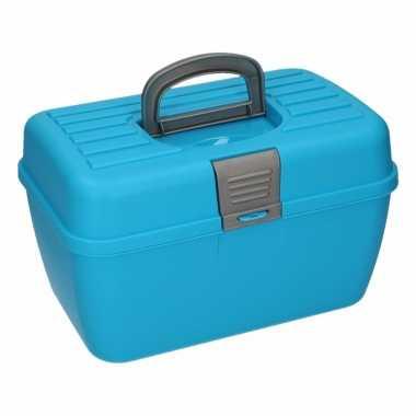 Multifunctionele opberg/sorteer box blauw 28 cm