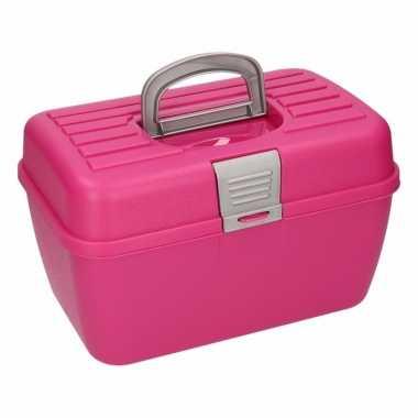 Multifunctionele opbergdoos roze 28 cm