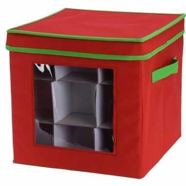 Opbergbox voor 27 kerstballen