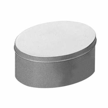 Ovalen metalen blik 18 x 13 cm