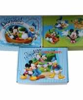 3x disney mickey donald opbergboxen opbergdozen van karton