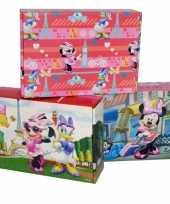 3x disney minnie katrien opbergboxen opbergdozen van karton